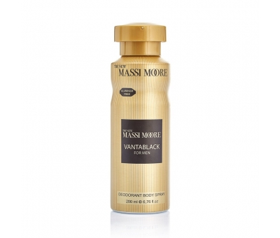 The New Massi Moore Vantablack Erkek Deodorant 200 ML